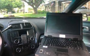 Inside Patrol Car