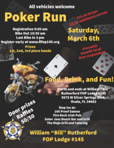 Poker Run - March 6, 2021 - Ocala, FL